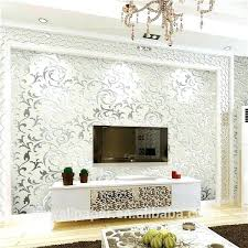 office wallpapers hd. Home Office Wallpaper Wall Paper Design Decor Wallpapers Silver Metallic Room Interior Hd