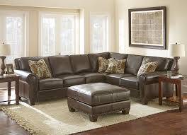 escher leather sectional