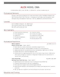 Sample Resume Entry Level Phlebotomist Resume Ixiplay Free