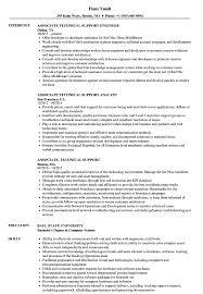 Associate Technical Support Resume Samples Velvet Jobs