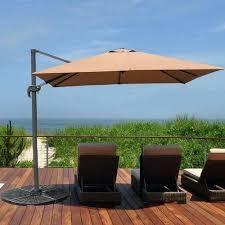 patio umbrella outdoor square offset hanging umbrella market patio umbrella aluminum cantilever pole w patio umbrella