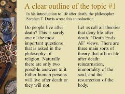 life after death reading around this topic you should aim to study  to write a good essay on this topic how to write a good essay on this
