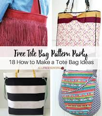 Free Tote Bag Patterns Impressive Free Tote Bag Pattern Party 48 How To Make A Tote Bag Ideas