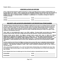 owner responsibility form residential property disclosure form ohio free download