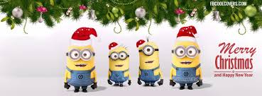 cute merry christmas and happy new year 2015.  Christmas Awesome Minions Merry Christmas U0026 Happy New Year 2016 Facebook Covers Intended Cute And 2015 E