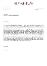 medical job cover letter cover letter examples by real people medical officer cover