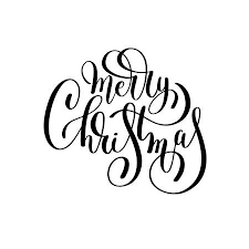 merry christmas black and white script. Wonderful White Merry Christmas Black And White Handwritten Lettering Inscription Holiday  Phrase Typography Banner With Brush Script For Merry Christmas Black And White Script C
