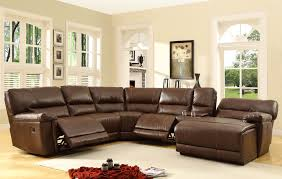 fantastic leather sectional recliner