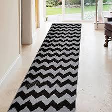 rubber backed 31 x 10 black chevron long runner rug non slip entry