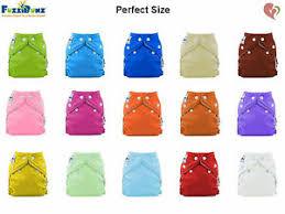 Fuzzibunz Medium Size Chart Details About Fuzzibunz Fuzzi Bunz Nappy Perfect Size Pocket Cloth Diaper With Insert