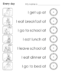 My Daily Routines Worksheets | Homeshealth.info