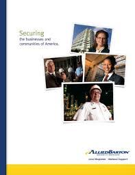 Fillable Online Our Capabilities Brochure Alliedbarton Security