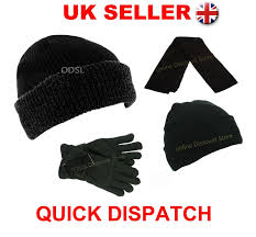 Mens Designer Hat And Gloves Mens Womens Thermal Lined Insulated Winter Ski Beanie Wooly Ribbed Cap Knit