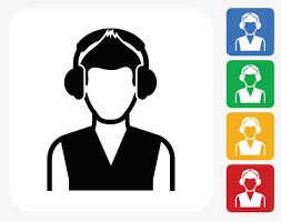 Graphic Design Office Impressive Customer Service Icon Wearing A Headset Customer Service Officer
