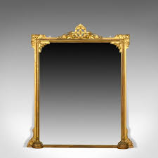 antique overmantle mirror english