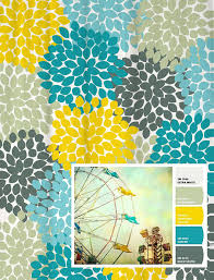 shower curtain in yellow blue gray fl standard and extra long lengths 70 74 78 84 88 let s make one in your colors