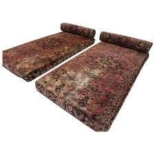 floor beds for sale. Brilliant For Bohemian Antique Persian Rug Upholstered Floor Day Beds And Bolsters Pair  For Sale With D