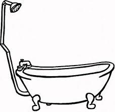 bath line drawing clipart best