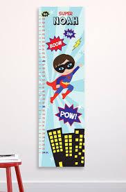 Superhero Growth Chart Kids Growth Chart Boys Superhero Decor Superhero Room Personalized Canvas Growth Chart Boys Nursery Wall Art