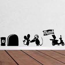 whole funny mouse hole wall stickers creative rat hole cartoon wall stickers bedroom living room mice wall decals bedroom decals for walls bedroom
