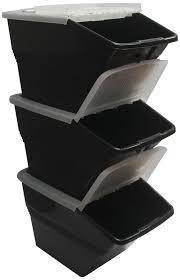 bin flap lid ref happy amazoncom wtm bbcl  stackable bins with hinged lids