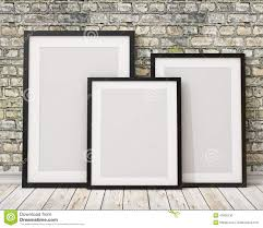 multiple empty picture frames. Mock Up Three Blank Black Picture Frames On The Old Brick Wall And Wooden Floor, Background Stock Illustration - Of Board, Multiple Empty P