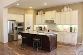 kitchen stain cabinets white appealing l shape wooden cabinet rustic pendant light above island added grey