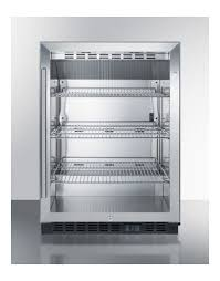 summit scr610bl built in undercounter glass door commerical beverage refrigerator