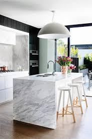 kitchen trend waterfall countertop bee island with edge waterfall concrete kitchen countertops slab countertop