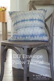 diy envelope pillow cover tutorial via somuchbetterwithage com