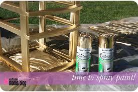 diy office storage organization spray paint 2