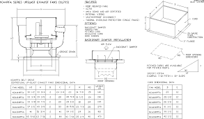 high pressure belt drive centrifugal upblast fan drawing