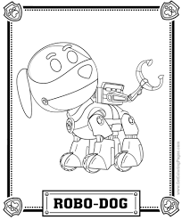 Paw Patrol Coloring Pages Getcoloringpages For Robot Hond Paw
