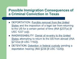 Immigration Consequences Of Criminal Convictions Chart Texas Immigration Consequences Of Criminal Offenses Ppt Video