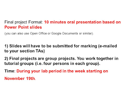 Format For Presentation Of Project Final Project Format 10 Minutes Oral Presentation Based On Power