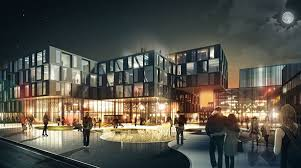 the office building and new cinema will be located adjacent to the existing theatre build a office