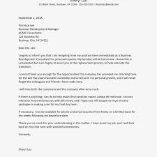 Resignation Letter Samples With Reason Immediate Resignation Letter Examples