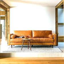 Tan Leather Sectional Sofa Ultra Modern Brown  In58