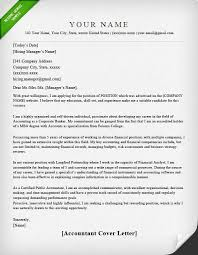 Cover Letter Template Accounting Cover Letter For Resume
