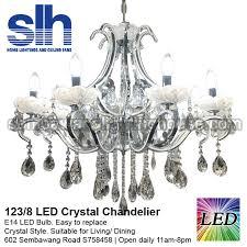 cc1 123 8 a crystal chandelier led semba