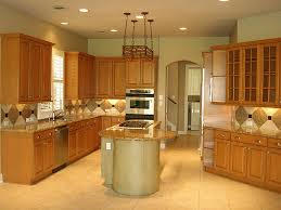color schemes for kitchen with light oak cabinets