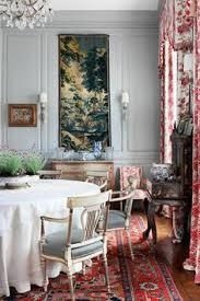 grey pink dining room