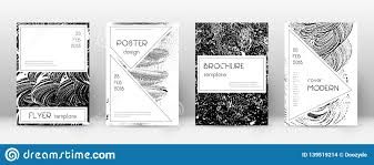 Cover Page Design Template Stylish Brochure Layou Stock