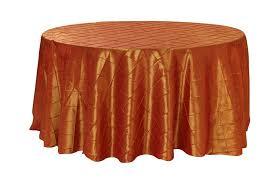 burnt orange tablecloth   120 inch Pintuck Taffeta Round Tablecloths Burnt Orange or Pumpkin for  Weddings