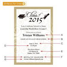 Graduation Announcements For High School Elegant High School Graduation Announcement Gradshop