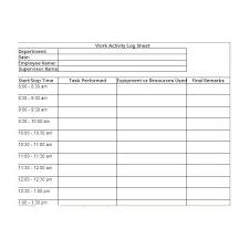 Daily Work Log Sheet Under Fontanacountryinn Com