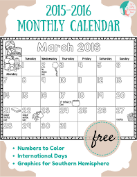calendars monthly 2015 free 2015 2016 monthly calendar for kids lizs early learning spot