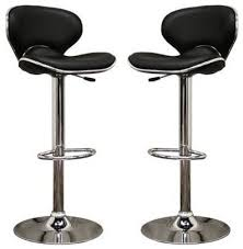 mercantila furniture. Orion Black Faux Leather Modern Bar Stool - Stools And Counter Mercantila Furniture