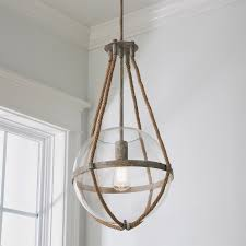 Nautical Globe Pendant Light Coastal Cottage Rope Globe Pendant Shades Of Light
