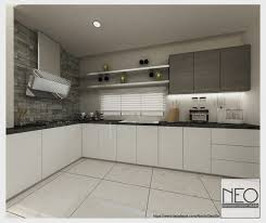 kitchen concept with flush acrylic doors for this semi d in kajang by neo